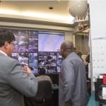 President Mahama visits the New York Traffic Management Center