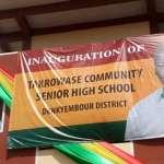 President Mahama commissions Takrowase Community Day SHS