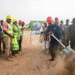President Mahama Breaks ground for Farmer Services Centre at Gwollu