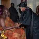 First lady Lordina commiserates with Otumfuo Osei Tutu (Pics)