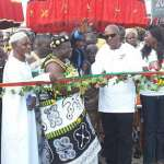 President Mahama Cuts Sod For Construction Of Flyover Across Accra-Tema Motorway