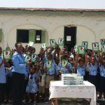 DKB donates execise books to King of Kings School at Dzorwulu.