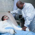 President Mahama visits La gas explosion victims