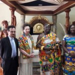 Princess Anne meets Otumfuo