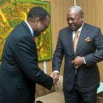 President of the African Development Bank DR Akinwumi Adesina and former President John Mahama (PIC)