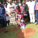 FIRST LADY CUTS SOD FOR KATH MATERNITY AND BABY UNIT -PICS