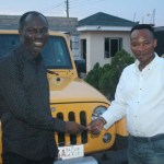 Prophet Badu Kobi Dashes Bishop Salifu Amoako a Car as Birthday Gift