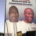 Controversial billboard of Accra mayor and regional minister brought down