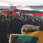 Former President Mahama,Kufuor, Etc at  the state burial of Major Maxwell Mahama