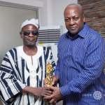 First visually impaired Ghanaian Minister presents award to John Mahama