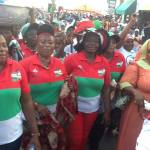 GREATER ACCRA NDC WOMEN'S WING WISH GHANAIANS MERRY CHRISTMAS AND HAPPY NEW YEAR.
