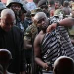 Massive crowd welcomes John Mahama at Asantehemaa's final funeral rites (Pictures + Video)