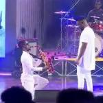 Ghanaian Saxophonist Mizter Okyere entertains First Lady