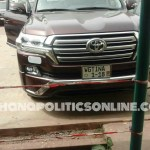 Deputy Health Minister, Tina Mensah used taxpayers' money to buy V8 With A Customized Number Plate ?