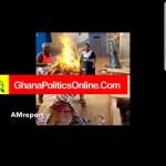 Top NPP Financier burns party paraphernalia in protest of poor treatment (Video)