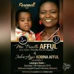 Ghanaians weep as mother and son who died in accident are buried together