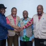 John Mahama meet Jonathan, 2 others in Sierra Leone as they observe elections