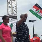 Over 200,000 NDC faithfuls walk with John Mahama In Kumasi (Video)