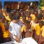 Gifty Osei Donates to her alma mater