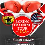 Ghanaian Boxer Albert Commey to embark on a training tour of USA