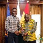 Stonebwoy visits President Akufo-Addo at Jubilee House, Invites Him to Bhim Concert