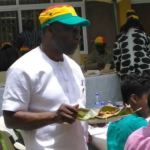 Red card! Ghanaians roast government for celebrating 'hat-trick' with kenkey party