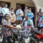 NDC National Youth Organizer donates motorbikes to all constituencies in Volta Region