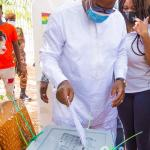 Election 2020: John Mahama votes in Bole (Pictures + Video)
