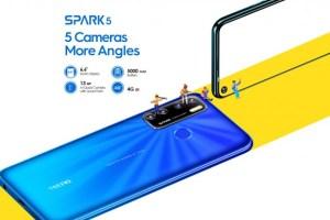 Tecno Spark 5 Air entry-level smartphones ghana