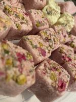 all natural moisturizing bath bombs with real flowers, petals, and peels