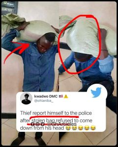 Man reports himself to police after stolen bag refused to come off his head in the Volta Region