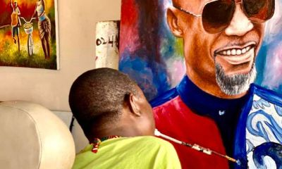 Fada Dickson Pays Generously To Obtain A Potrait Of Him By Physically Challenged Artiste
