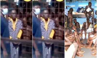 Video of Shatta Wale Looking Scared As Prisoners Hoot Him Inside Ankaful Prison Drops