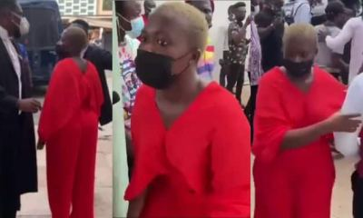 Fella Makafui Runs Full Speed As She Reacts To Medikal's Bail (WATCH)