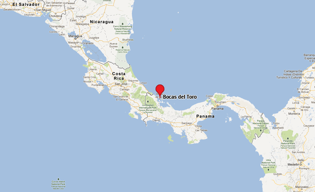 Image result for location of bocas del toro