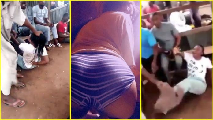 Iangry Brother Beats Up Sister For Posting Her Tw£rking Video On Social Media1