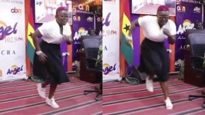 Nana Yaa Brefo Hits Angel Fm Studios With Crazy Dance Moves 696x392