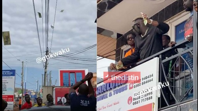 Video Of Medikal Throwing Monies To His Fans At East Legon