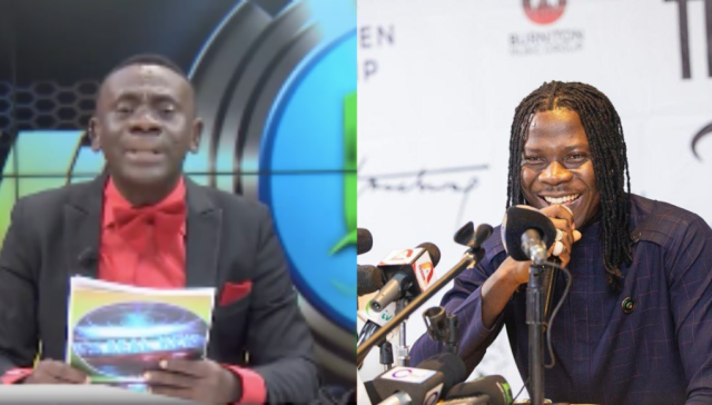 "Video: Akrobetu hilariously remix Stonebwoy's ""Putuu"" song on his Real News"