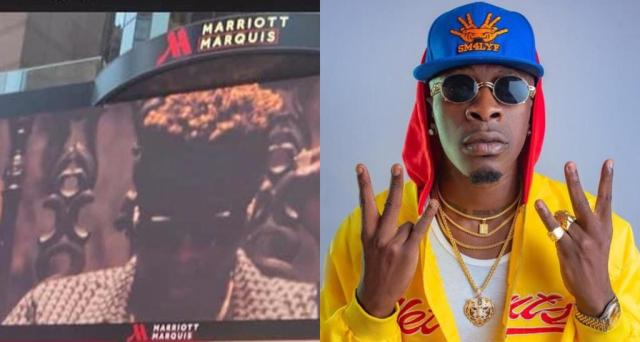 Shatta Wale sets another record; He appears on New York Times square for the Second time