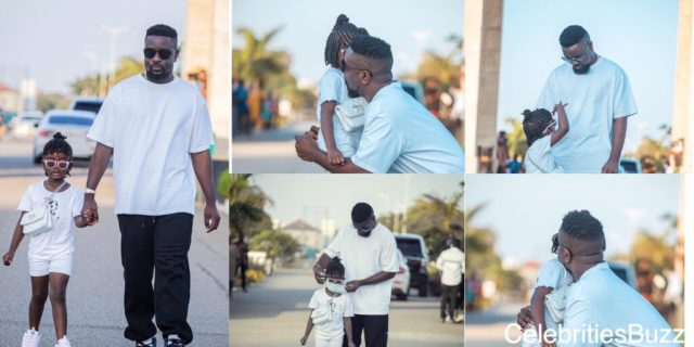 Sarkodie steps out with Titi for some fresh air
