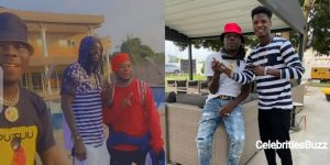 Stonebwoy spotted in Togo chilling with Emmanuel Adebayor & top Togolese young star Santrinos Raphael