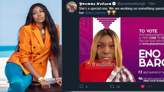 Yvonne Nelson Calls On Ghanaians To Vote For Eno Barony As VGMA 2020 Best Rapper Of The Year