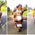 Lady Puts Her Raw 'Bortors' on Display While Riding Okada (WATCH NOW)