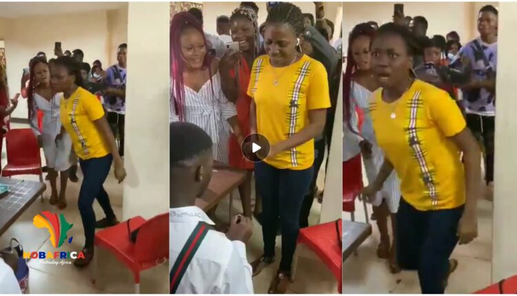 Video Of A Lady Goes Mad Whiles Receiving A Proposal Ring On Vals Day