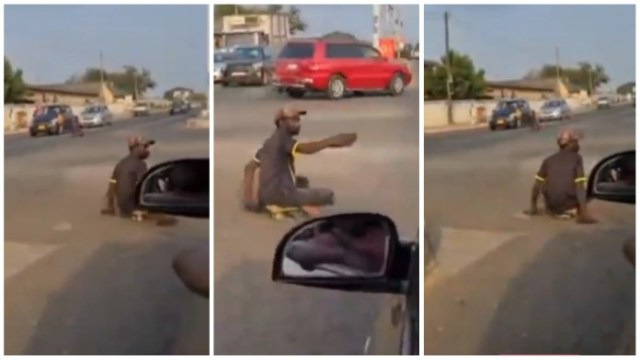 Netizens Reacts To a Video of Two Cripples Directing Traffic on the Road