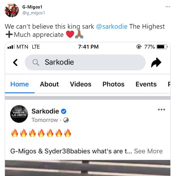 G-Migos Go Speechless After Sarkodie Shared Their Viral Freestyle – See Their Reactions