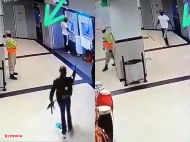 I Can't Come And Kill Myself – Security Guard Casually Walks Away As Armed Men Rob ATM He Was Guarding – Video