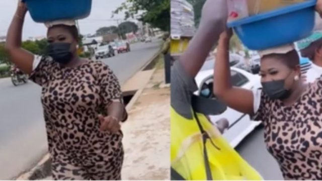 Sista Afia Finds A New Carrer, As She is Seen Distributing Free Water On The Streets like a Hawker