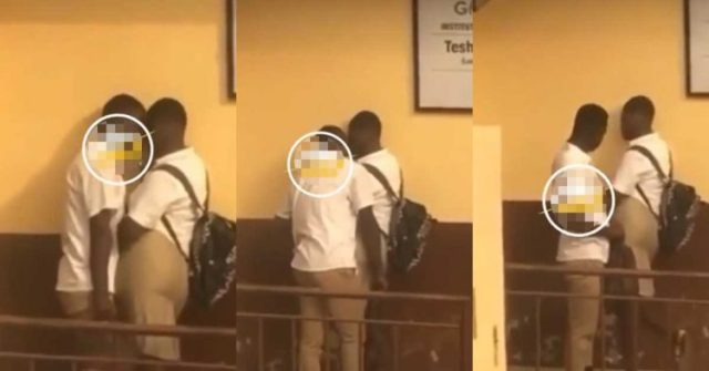 See What Teshie Anglican JHS Students Seen  doing it in broad daylight right after school hours (Watch Video)